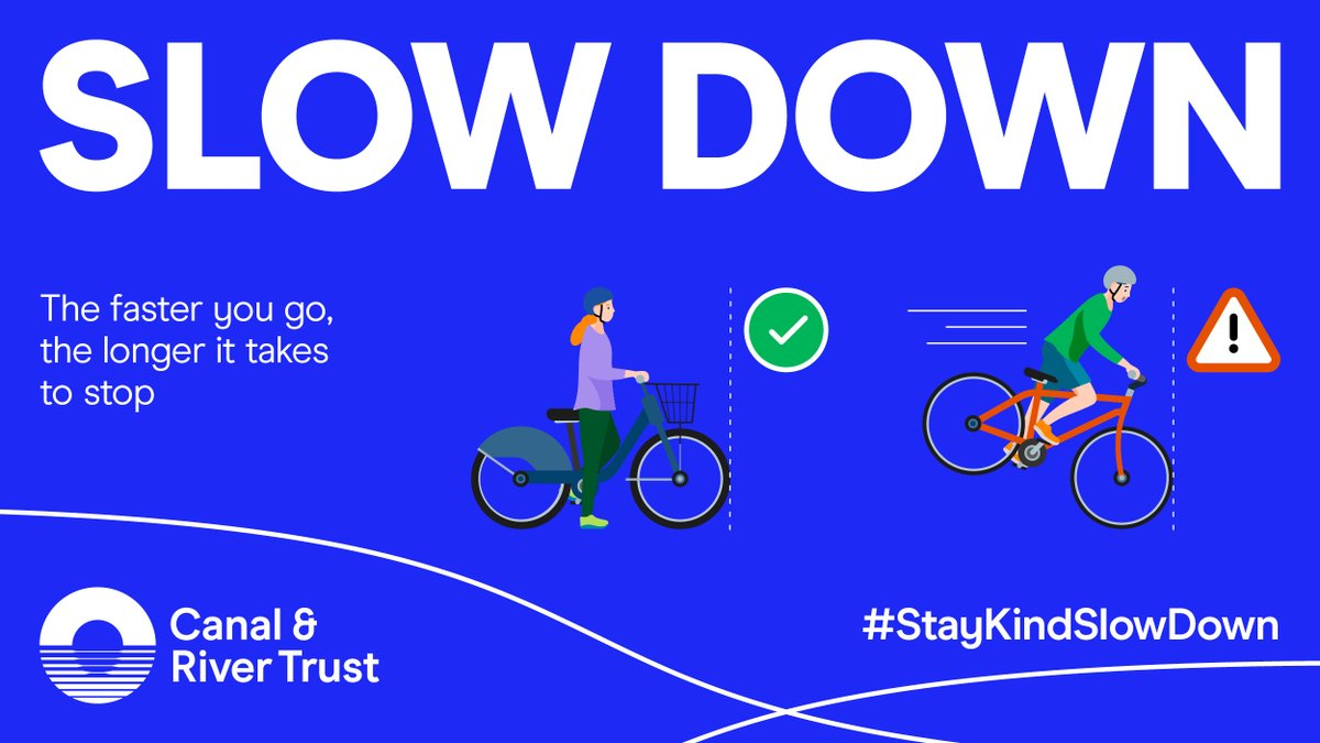 test Twitter Media - Our towpaths are a place for everyone to enjoy safely. If you're cycling by the canal you need to be aware of your speed & #StoppingDistance. Ease off the pedal power & enjoy the ride by the water. Find out more about stopping distances: https://t.co/JF9Q6ulqDM #StayKindSlowDown https://t.co/52qhxHgkuI
