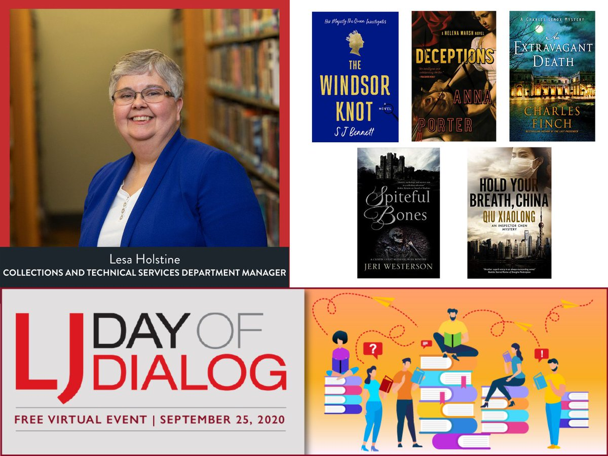 EVPL's Collections and Technical Services Department Manager, Lesa Holstine, will be moderating the Mystery panel during Library Journal's Day of Dialog on Friday. We wish her the best of luck! Learn more about the Day of Dialog: