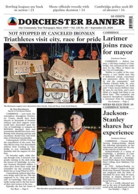 Today's Dorchester Banner front page. Be sure to pick up your copy this morning -