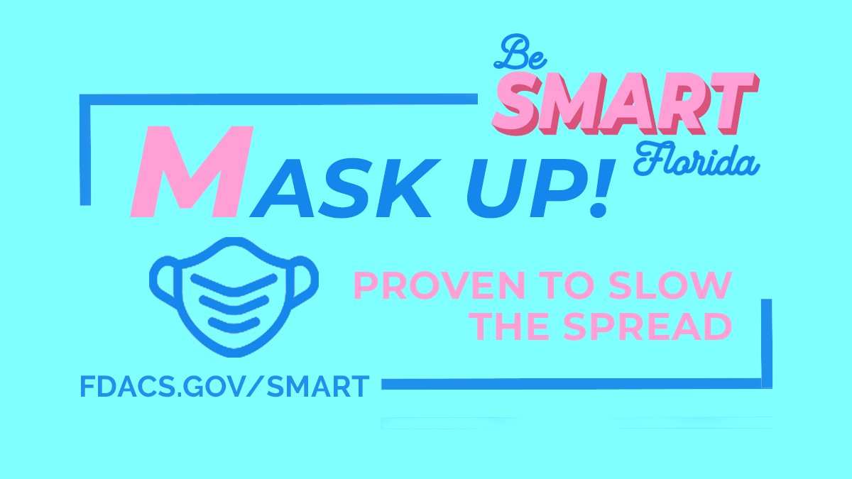 St. Augustine - this week, help slow the spread of COVID-19 by focusing on the 'M' of being SMART: Mask up! #CityStAug #BeSMARTFl