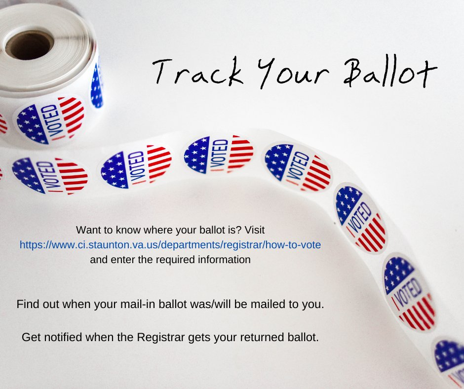 Want to know where your ballot is? Visit  and enter the required information. Find out when your mail-in ballot was/will be mailed to you. Get notified when the Registrar gets your returned ballot.