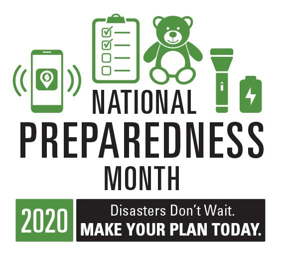 National Preparedness Month is recognized each September to promote family & community disaster planning. Whether you're a kid or teen, a parent or loved one, or work with youth,  has tools and information to help before, during and after disasters.