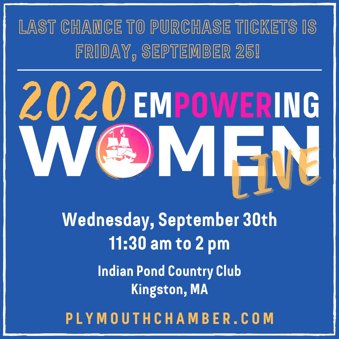 Empowering Women LIVE -- Last chance to purchase tickets is this Friday, Sept 25th!