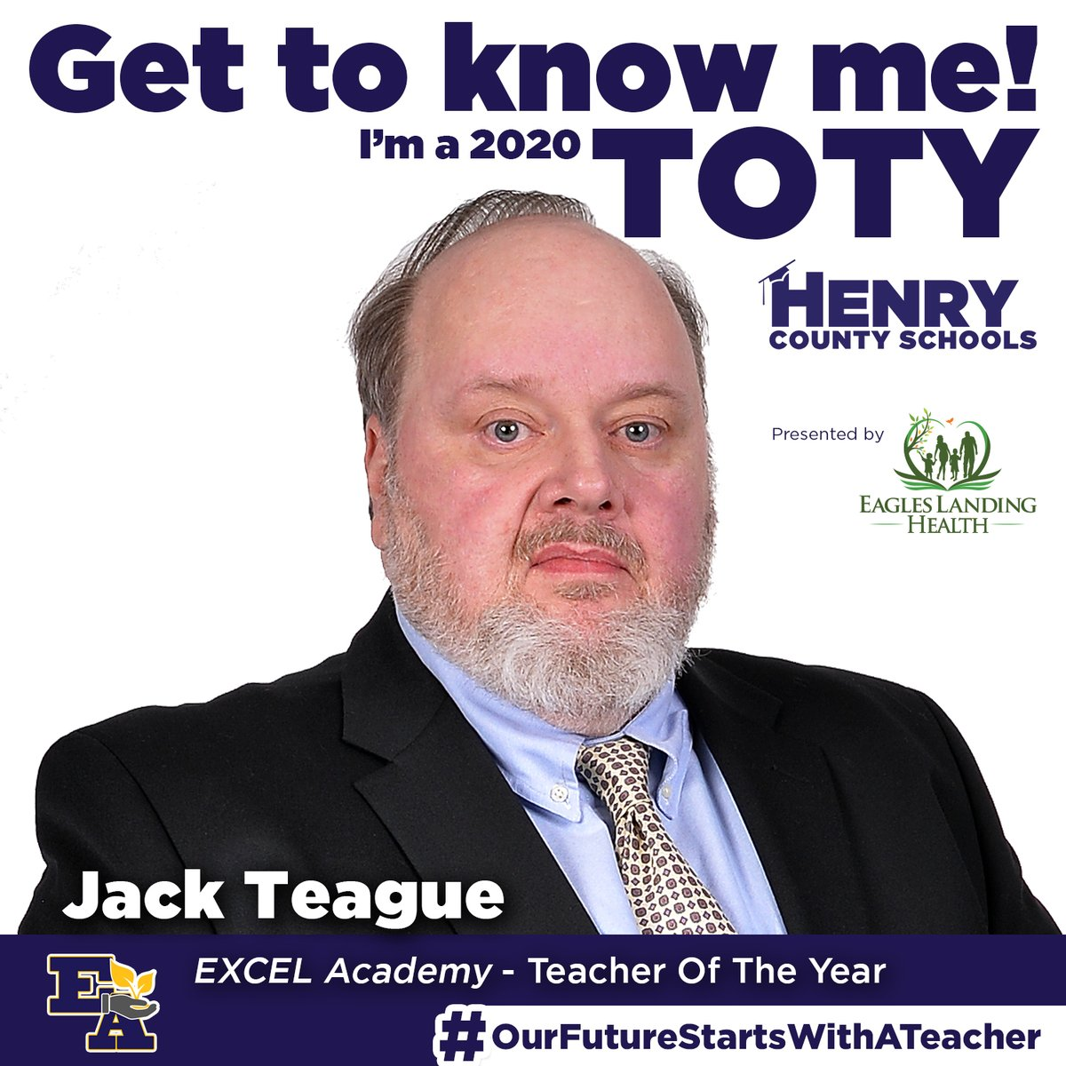Our next Teacher of the Year, from @EXCELAcademyHCS, is Jack Teague!  Congrats to Mr. Teague! #OurFutureStartsWithATeacher  TOTY Sponsor: @ELHGeorgia