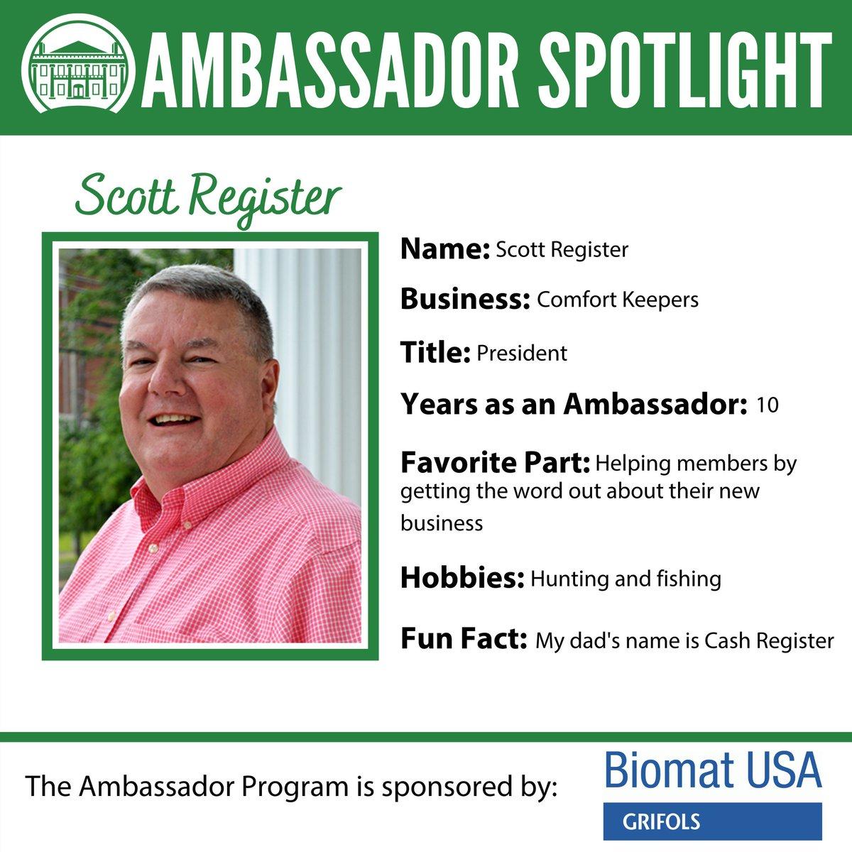 Get to know the friendly faces behind the green blazers! Meet Scott! #ValdostaChamberAmbassadors #Ambassadors