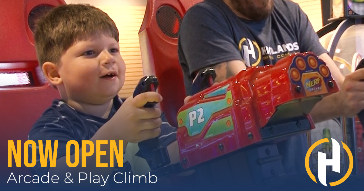 🕹️ news: Arcade & Play Climb are NOW OPEN @PlayHSCSports at The Highlands!   #VisitWheelingWV