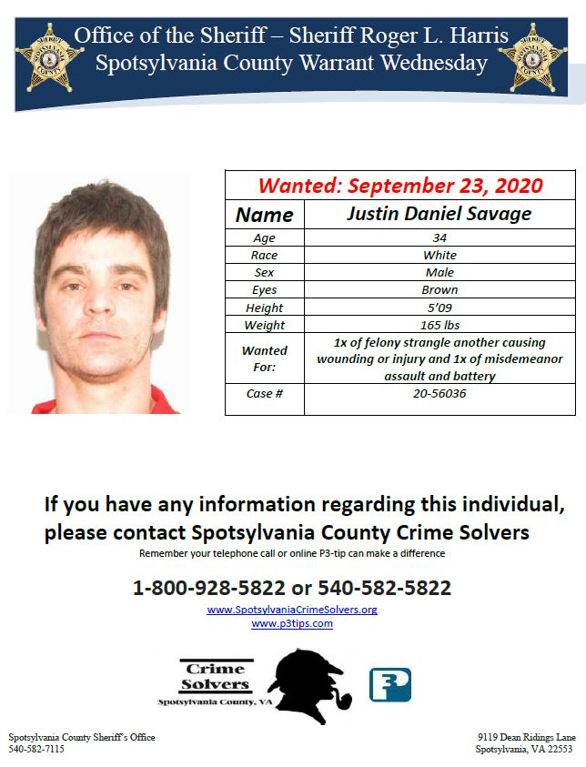 If you have any information, please contact our Crime Solvers! #WarrantWednesday
