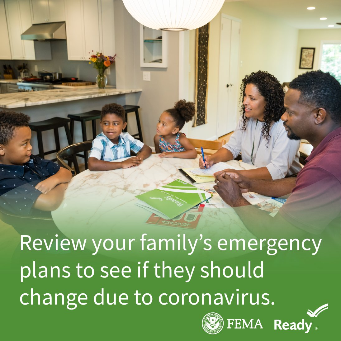 Be sure to review your family's emergency plans to see if they should change due to coronavirus.