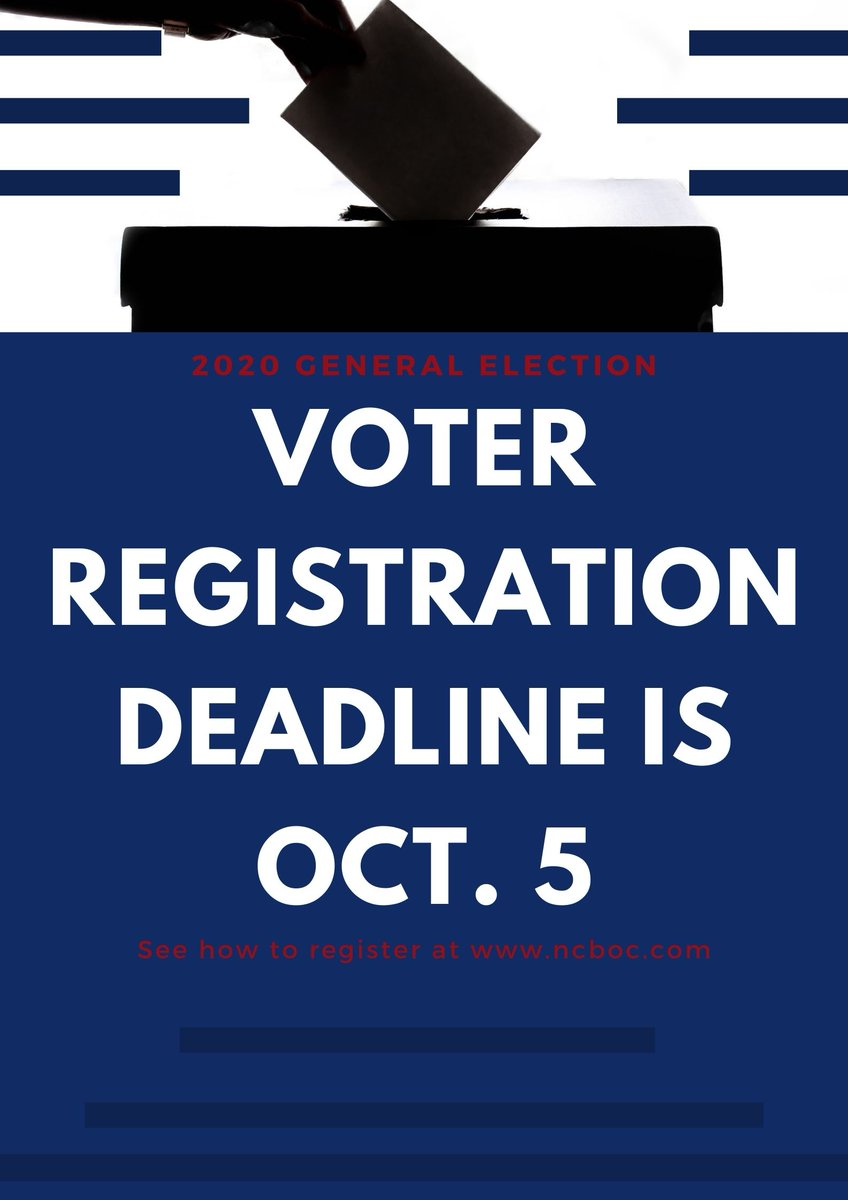 The last day a person may register and be eligible to vote in the November General Election and Special Election Runoff for local, state and federal offices is Monday, Oct. 5.