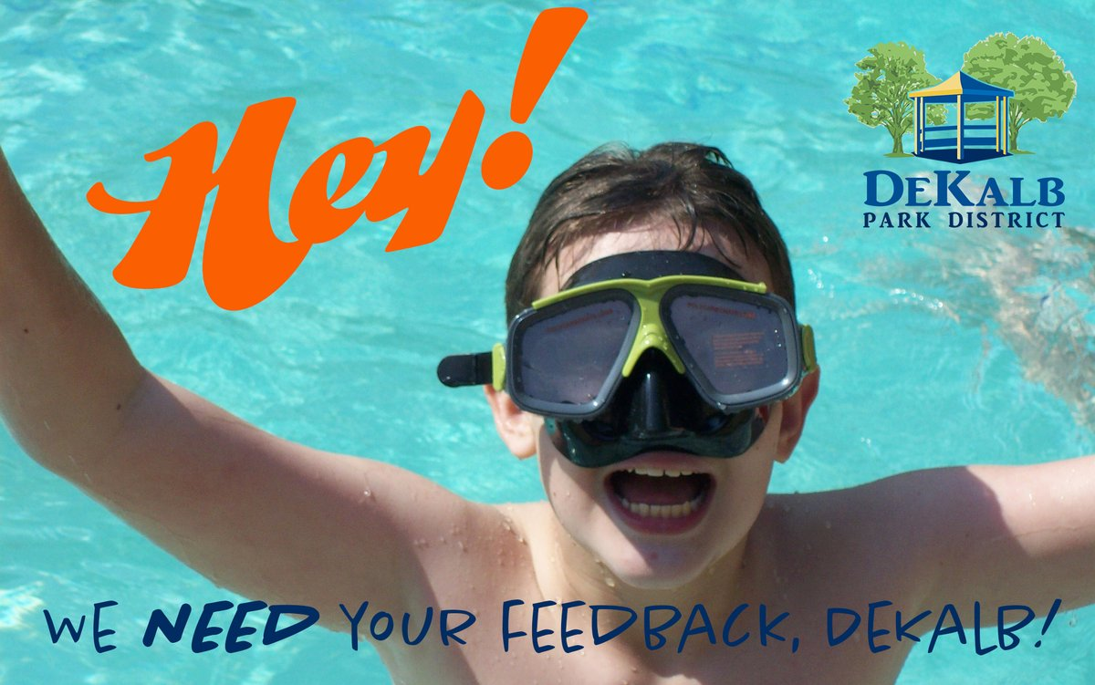 DeKalb, we need YOUR FEEDBACK about the future of Hopkins Park Pool! 😎🏊‍♀️🐠Take the online survey NOW through October 2 or join us for our LAST public input meeting on September 30, 6-8 pm at the Hopkins Park Community Center. #surveysays #sharenow #dekalb…
