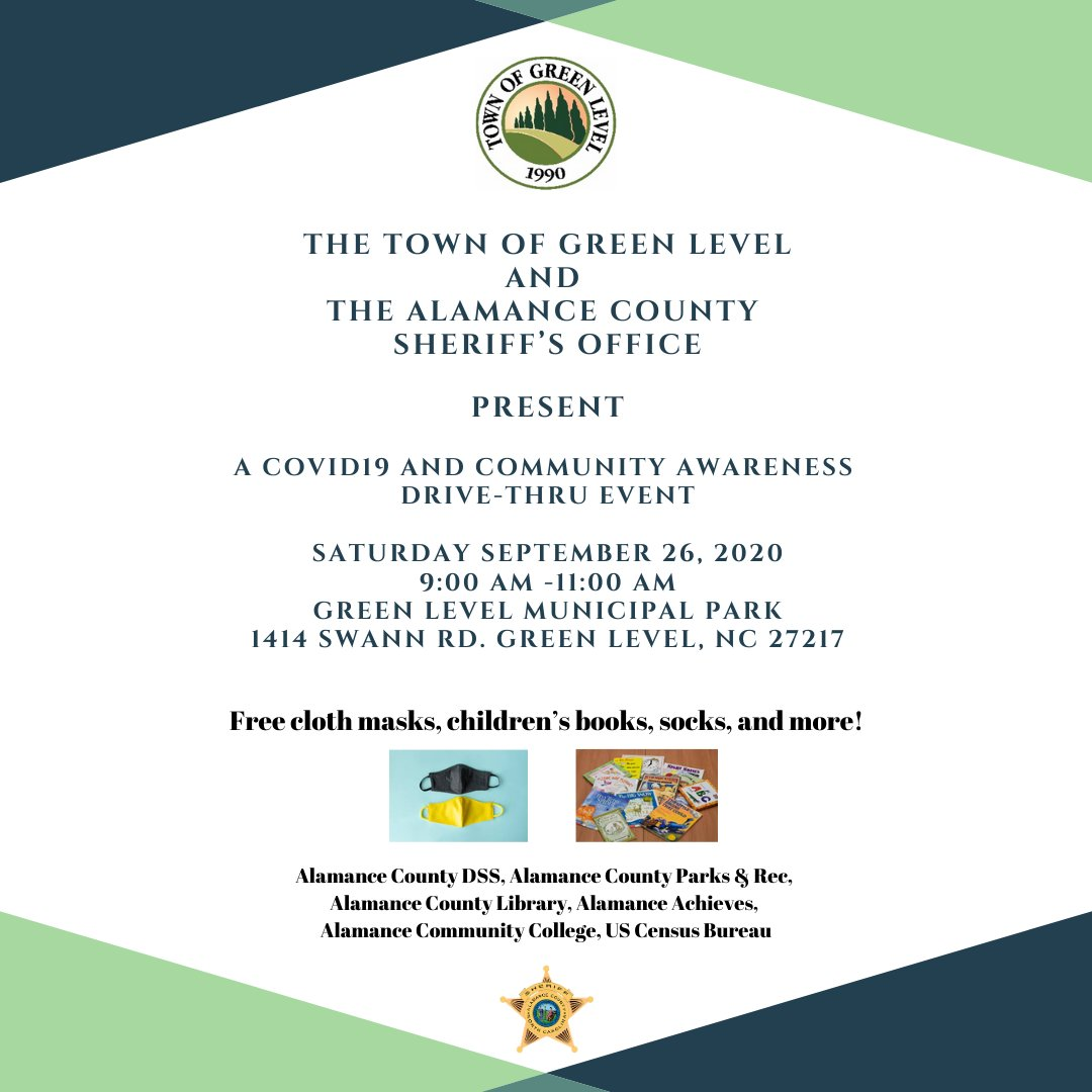 RT @SheriffAlamance: We hope that you'll join us in Green Level on Saturday morning!