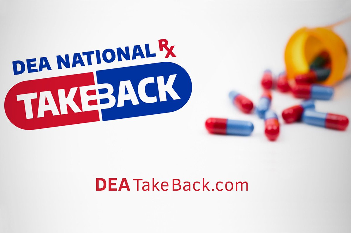 #NationalDrugTakeBack details here: