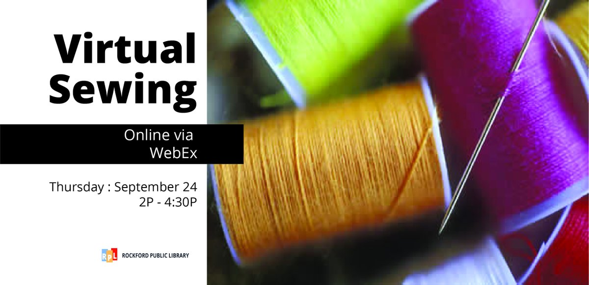 Looking for an easy project to sew? Then join with us via WebEx for our first virtual sewing session. Click here   to register & for the list of items you'll need for our first project.