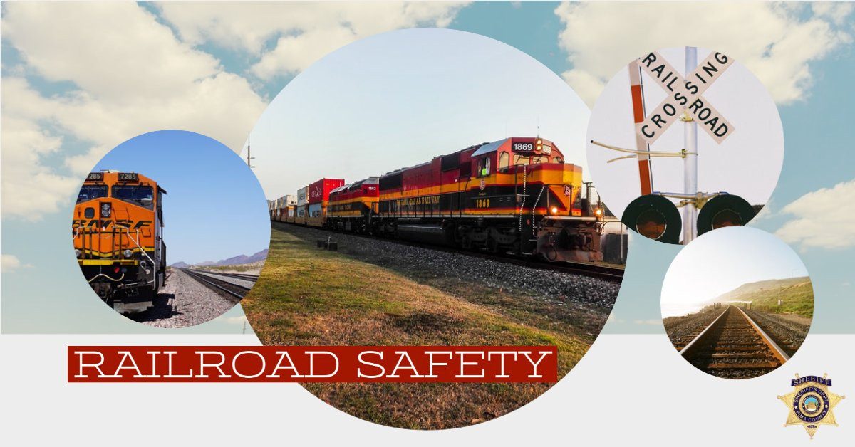 🚂 Rail Safety Week 🚂  Tips to keep you safe  🚧 Never drive or walk around lowered grade crossing gates  🚧 Never stop your vehicle on a grade crossing waiting for traffic to move  🚧 Always remember a train can take a mile or more to stop  #RailSafetyWeek #OperationLifesaver