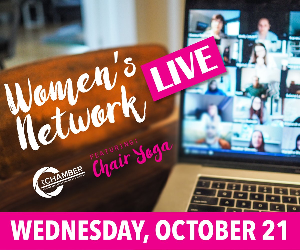 Join us on October 21 for our first Women's Network LIVE! A digital networking event featuring chair yoga. Register now:
