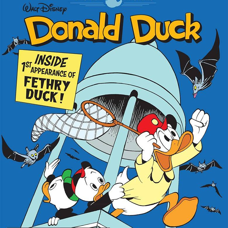 Our Free Comic Book Day is Sat., Sept. 26 (while supplies last)! Here is one of the comics that will be available that day:  Donald Duck by John Lustig; Rating: All-Ages  This is a sampler of rare Duckburg classics featuring Donald Duck and Uncle Scrooge.