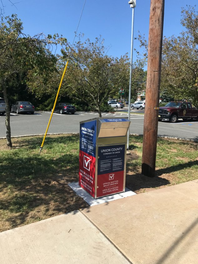 The Union County Board of Elections has installed a secure ballot drop-off box in @CityofSummitNJ, in the Chestnut Street Parking Lot, adjacent to the Firehouse, 406 Broad Street (corner of Morris Avenue and Broad Street). Details at