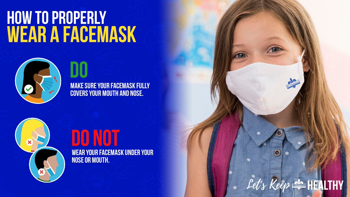 We all play a part to #KeepSTPPSHealthy at school and at home.  With the state mask mandate still in effect, please remember to wear your facemask properly.  Let's Mask Up, STPPS!  #WeAreSTPPS