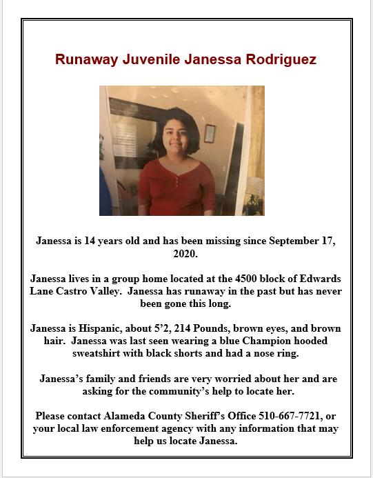 Missing Juvenile