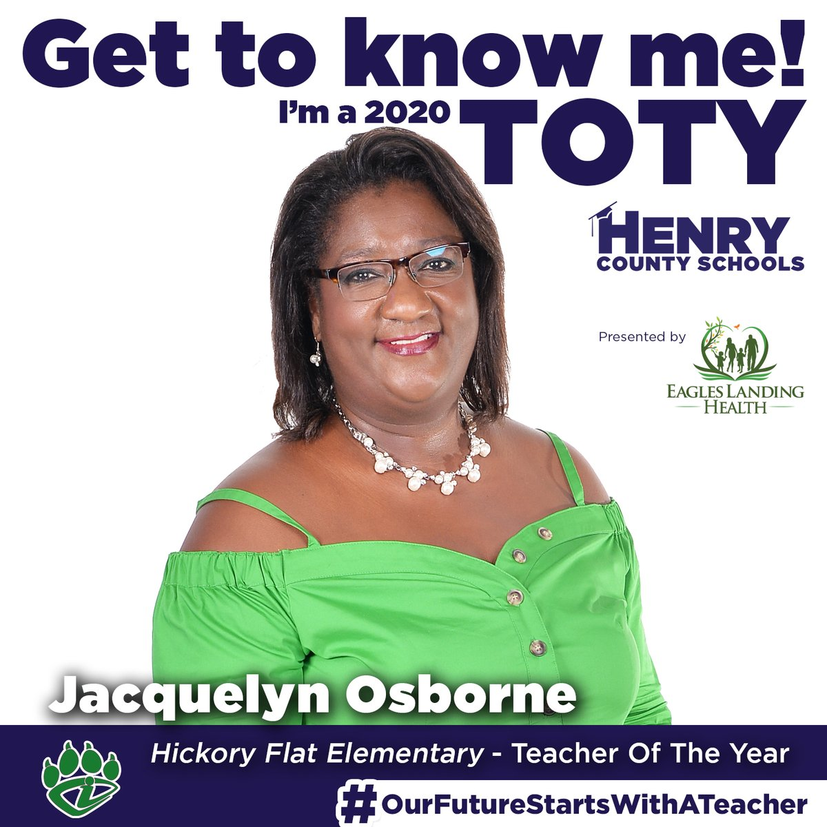 Our next Teacher of the Year, from @hfemiway, is Jacquelyn Osborne!  Congrats to Ms. Osborne! #OurFutureStartsWithATeacher  TOTY Sponsor: @ELHgeorgia