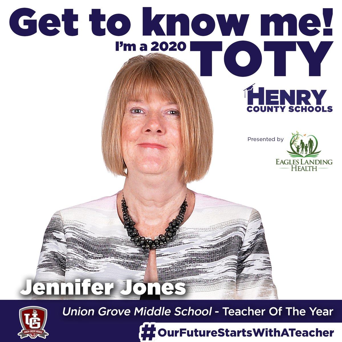 Our next Teacher of the Year, from @ugm_hcs, is Jennifer Jones!  Congrats to Ms. Osborne! #OurFutureStartsWithATeacher  TOTY Sponsor: @ELHgeorgia