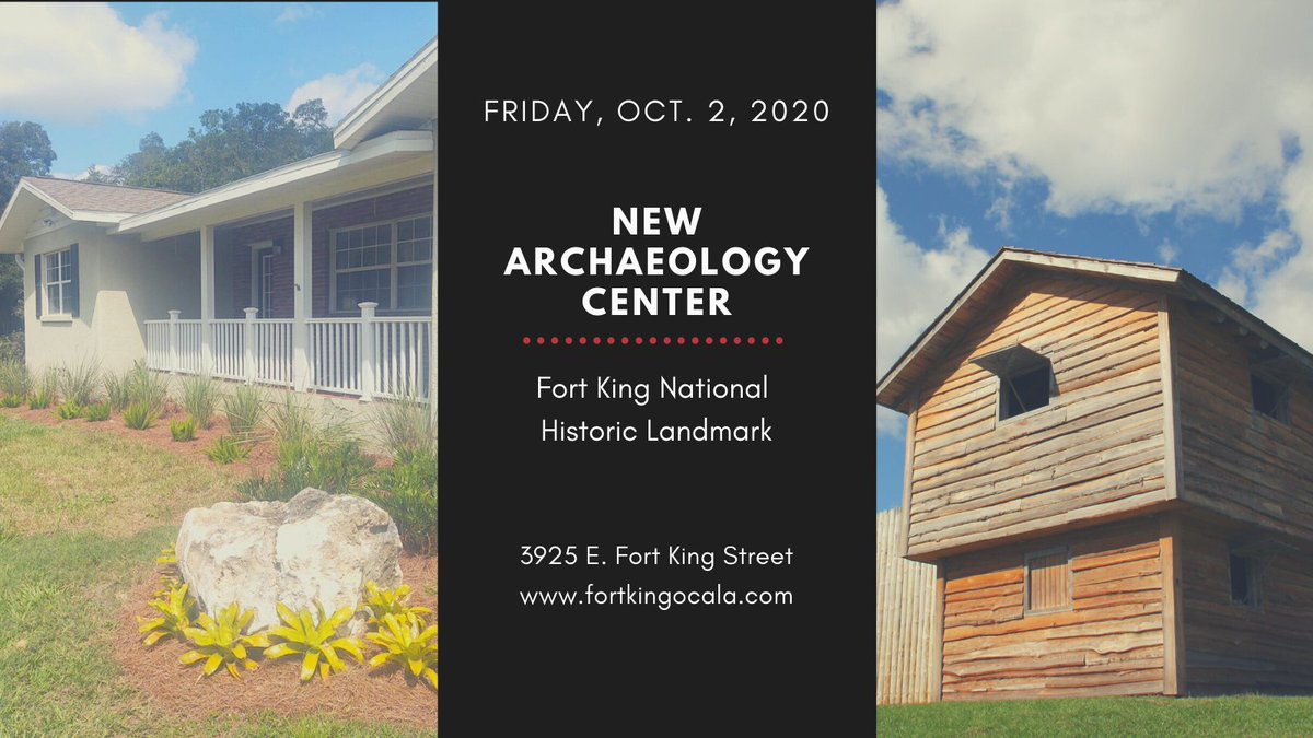 The Fort King National Historic Landmark, announces the opening of its Archaeology Center Friday, Oct. 2.   The Center also features new artifacts that have never been seen by the public and were discovered during the blacksmith shop excavation.