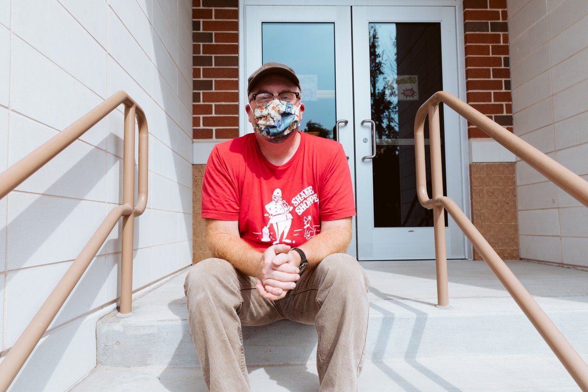 Eric Pardue, a custodian at Culloden Elementary, says,