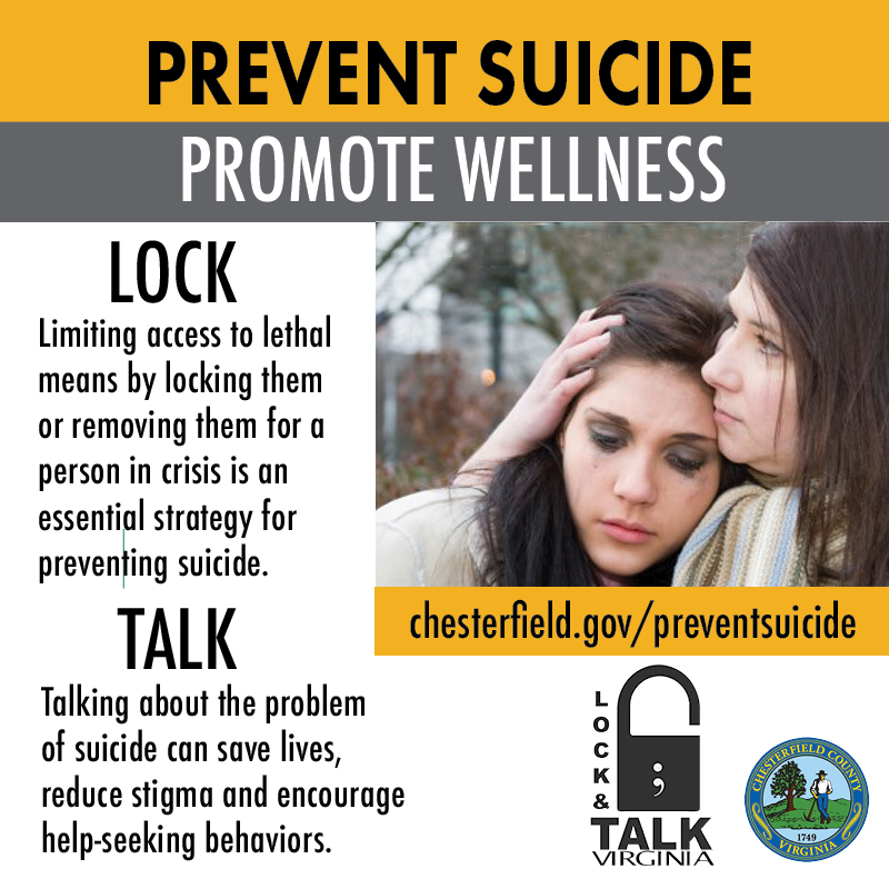 Know the suicide warning signs.   Visit  for more information and resources. If you or someone you know is in crisis, call the National Suicide Prevention Lifeline at 1-800-273-8255.