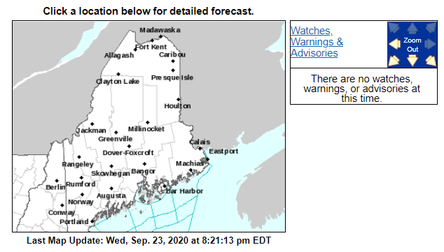 All remaining weather watches, warnings, and advisories for Maine have been discontinued as of 8:20pm. #MEwx