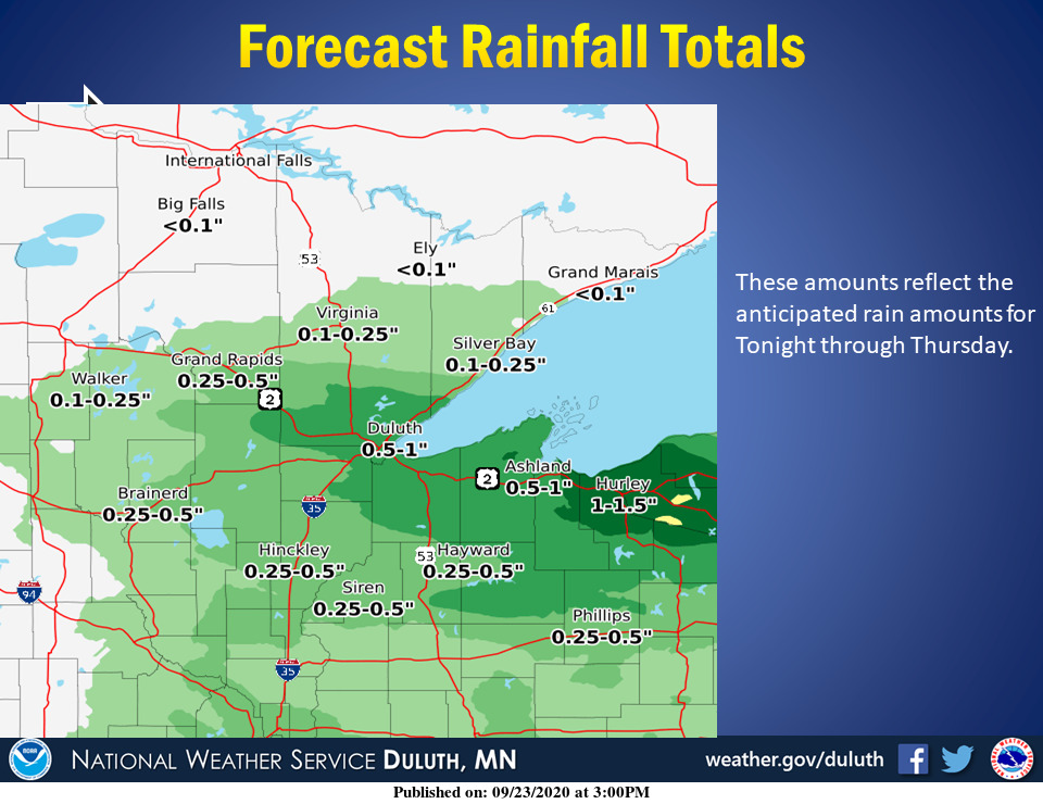 Forecasted rainfall amounts for tonight through Thursday. #mnwx #wiwx