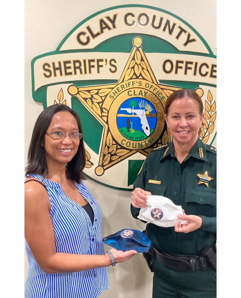 """Sheriff Cook was pleased to receive a visit from Teri Hellard, the founder of Angels Year Round Recovery Foundation.  This is a non-profit organization established to work together as """"one family"""" in the effort to overcome all levels of paralysis in various ways."""