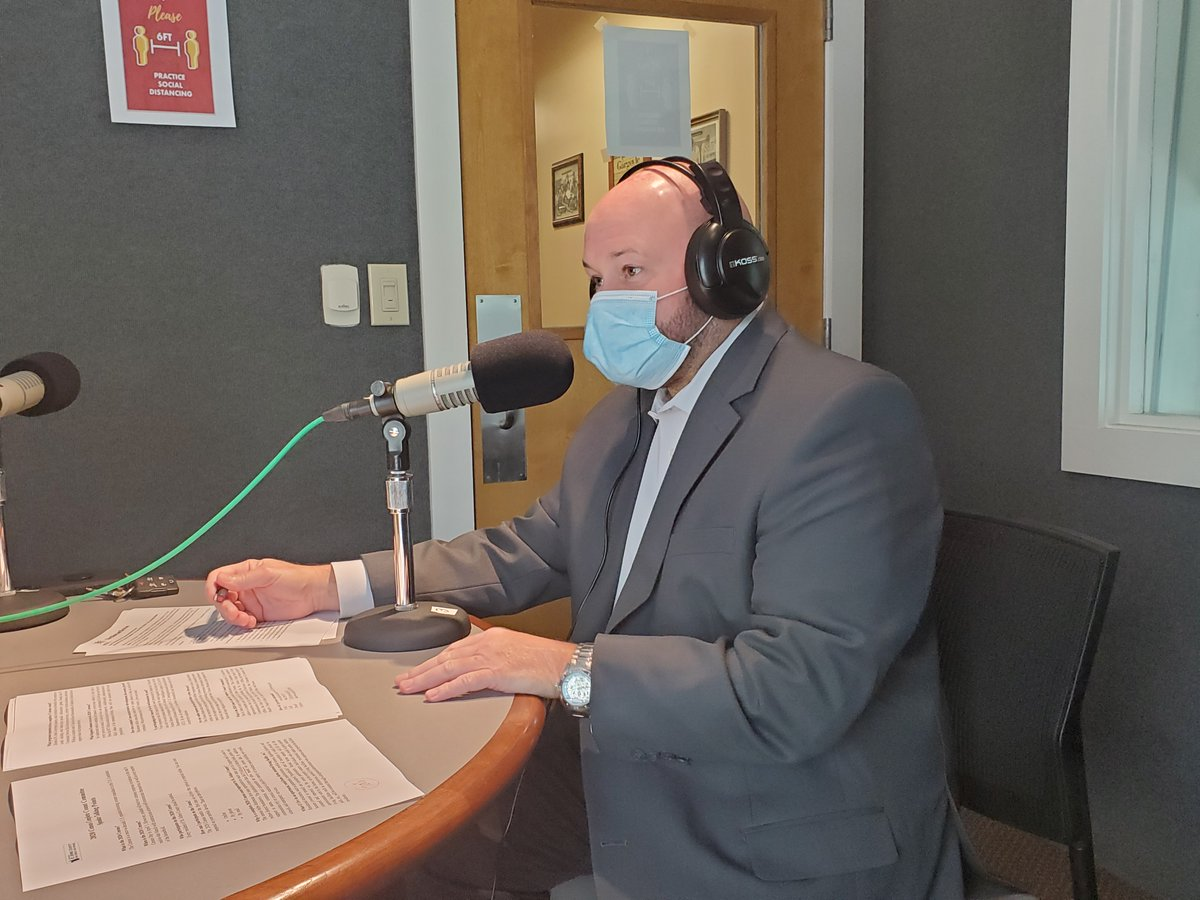 Michael Ryan, St. Johns County Communications Manager, stopped by The Break Room this week to discuss the 2020 Census, St. Johns County's 200th Birthday, and more!  To listen, tune into @WFCF88five at 5pm today or visit . #CityStAug #CityStAugTBR