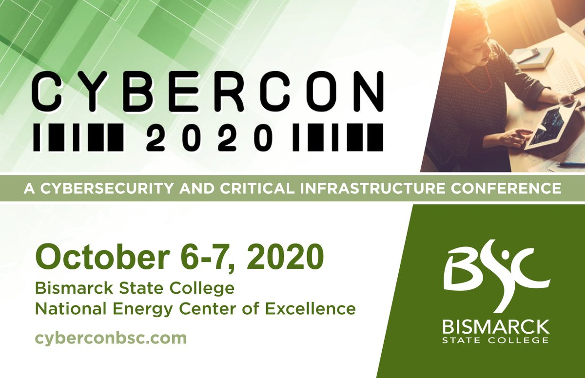 Have you heard about the phenomenal lineup for this year's CyberCon? @NFL SVP of Security Cathy Lanier, Black Hills Information Security Owner John Strand and ND CISO Kevin Ford are keynoting a packed agenda. Sign up today!
