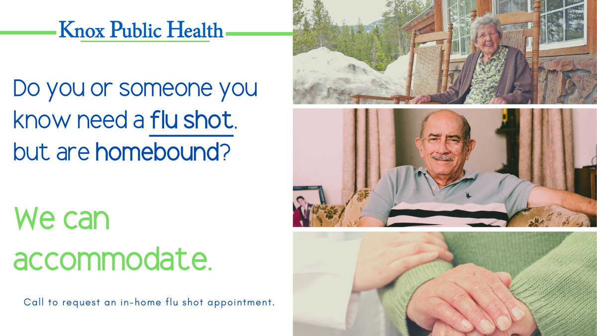 #DYK we offer in-home #flushots for community members who are homebound. For more information about setting up an appointment, please give us a call at 740-392-2200.