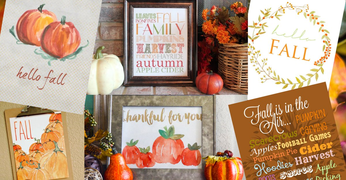 Happy Fall Y'all! 🌰🍁🍂🌰🍁🍂 I wanted to help you decorate your home for #Fall with #FreePrintables 🌰🍁🍂🌰🍁🍂