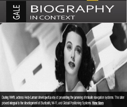 Engaging biographical content in a digestible format, right at your fingertips. Access Gale In Context: Biography