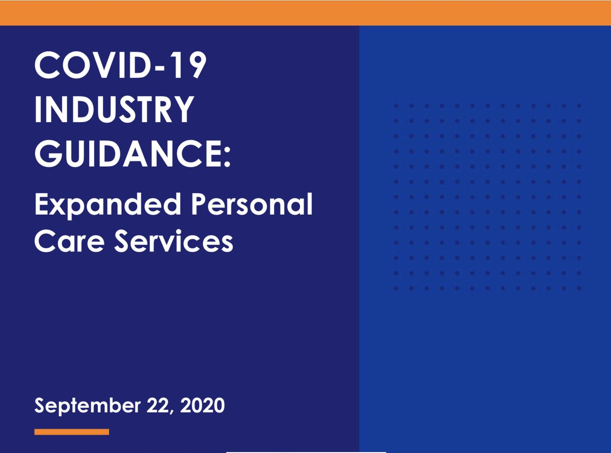 UPDATE: The industry guidance for Expanded Personal Care Services, such as nail salons, has been updated.  To review the updated guidance please visit  #TCCovid19 #TCHHSA