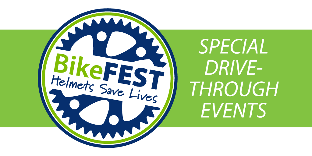 Helmets save lives. Which is why we want you to be equipped for bicycling safely. Attend one of the upcoming BikeFest drive-through events. We're offering free helmets and other goodies for your family. Learn more: