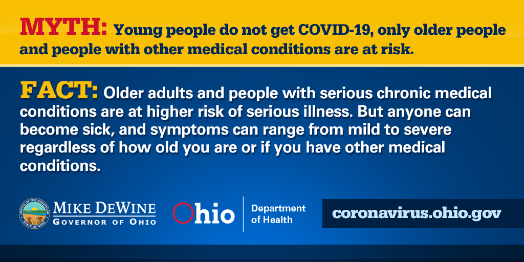 RT @OHdeptofhealth: #COVID19 Myths vs. Facts.  #InThisTogetherOhio