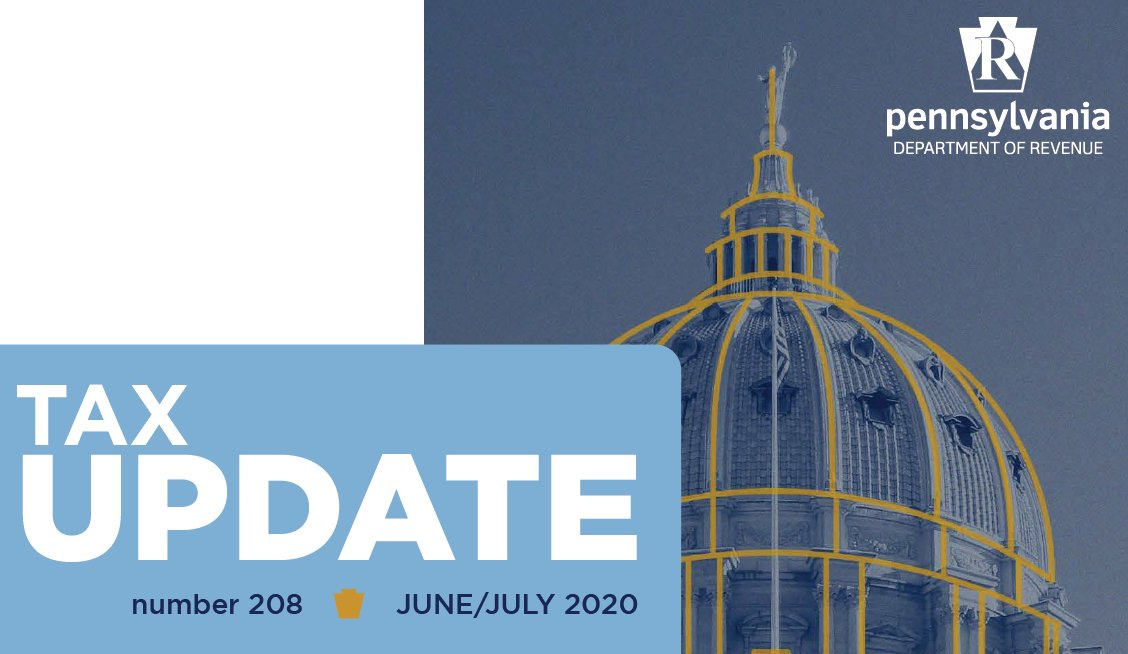 Have you read the latest edition of our bimonthly publication, Tax Update? You can read it at .   While you're there, sign up to receive the Tax Update in your email inbox as soon as it is published. The next edition comes out next week!