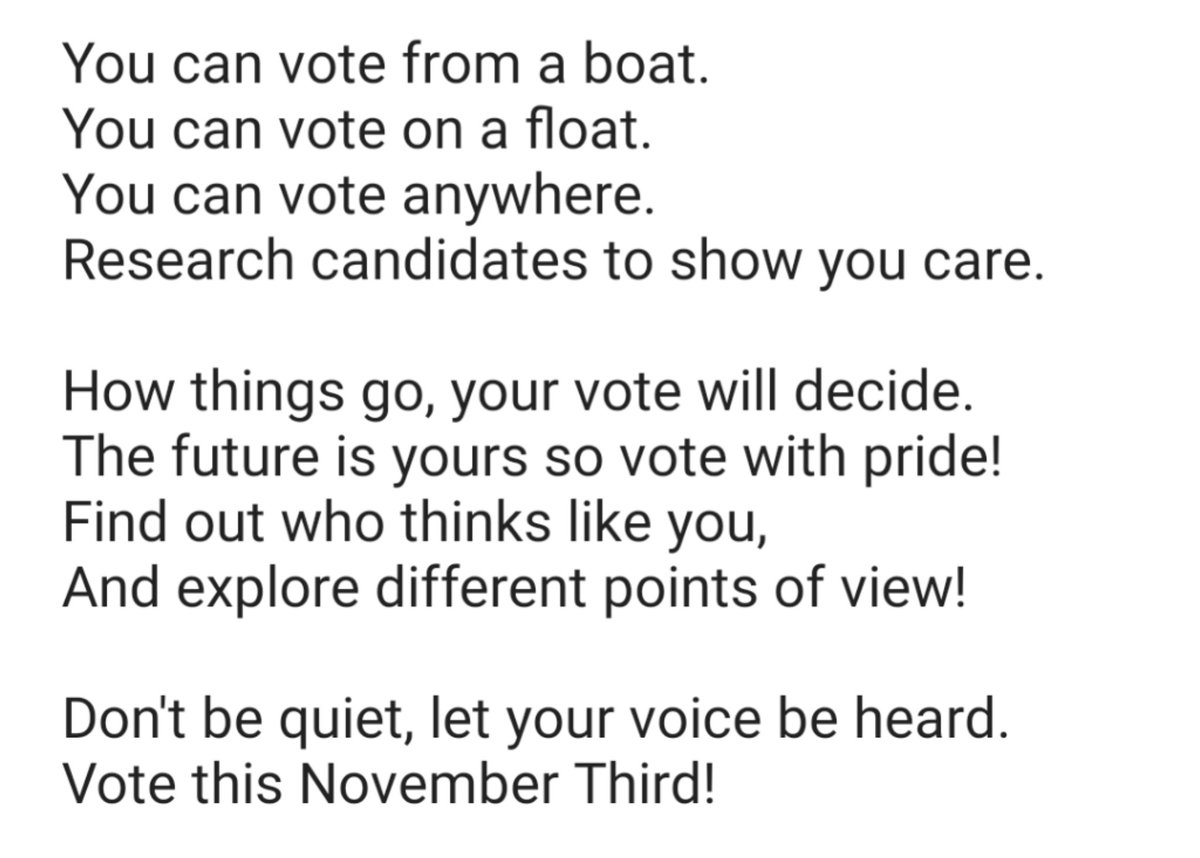 We couldn't resist a Seuss-like poem to go with our informed voter post: