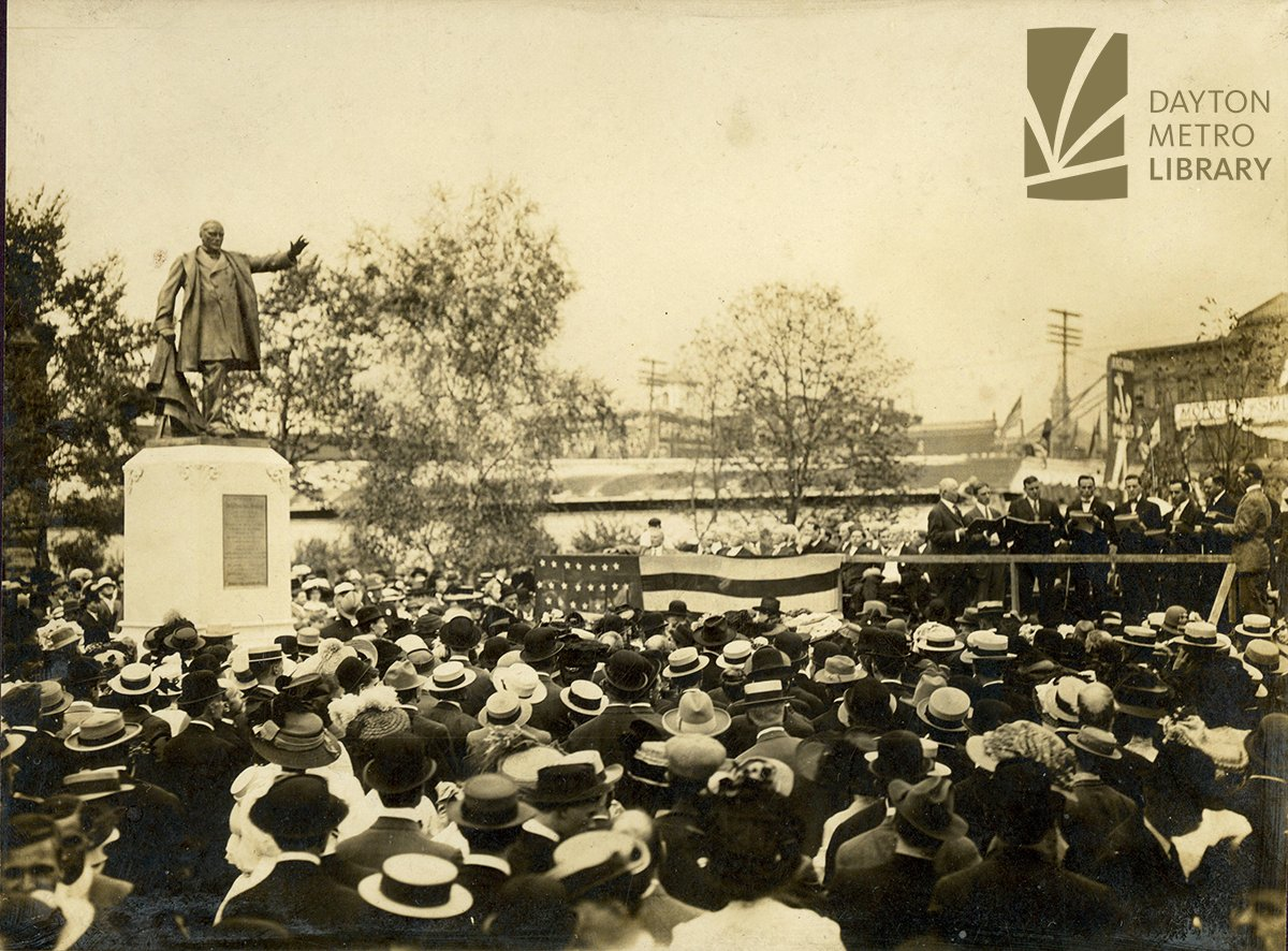 #TBT 📷  This photo is of the dedication of the McKinley Monument in Cooper Park, Dayton, Ohio, on September 17, 1910. (From the collection of Harry Voorhees Lylte, Sr.)  You can enjoy more from this digital collection here: