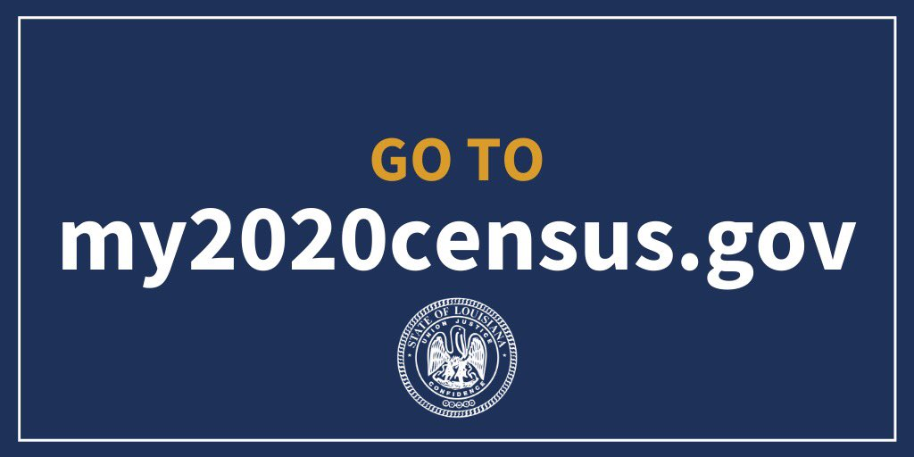 With less than a week left to respond to the census, too many Louisianans have not been counted. That puts us at risk of losing millions in federal funding over the next 10 years. Respond at , text 'CountMe' to 898-211 or call 1-844-330-2020. #lagov