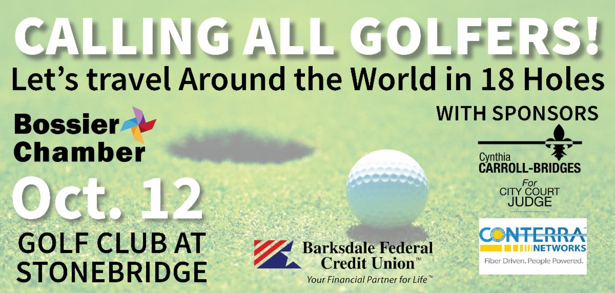 Golfers - you don't want to miss our Golf Tournament on October 12!