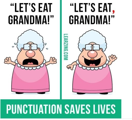😅😅😅 #NationalPunctuationDay #PunctuationSavesLives #HappyThursday #CallUsIfYouNeedUs #HereForYou