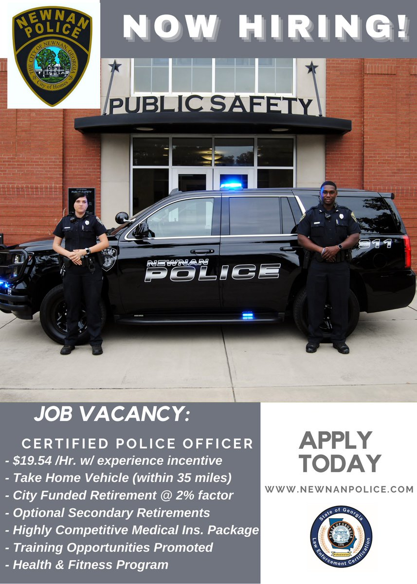 Now Hiring for Certified Officers:
