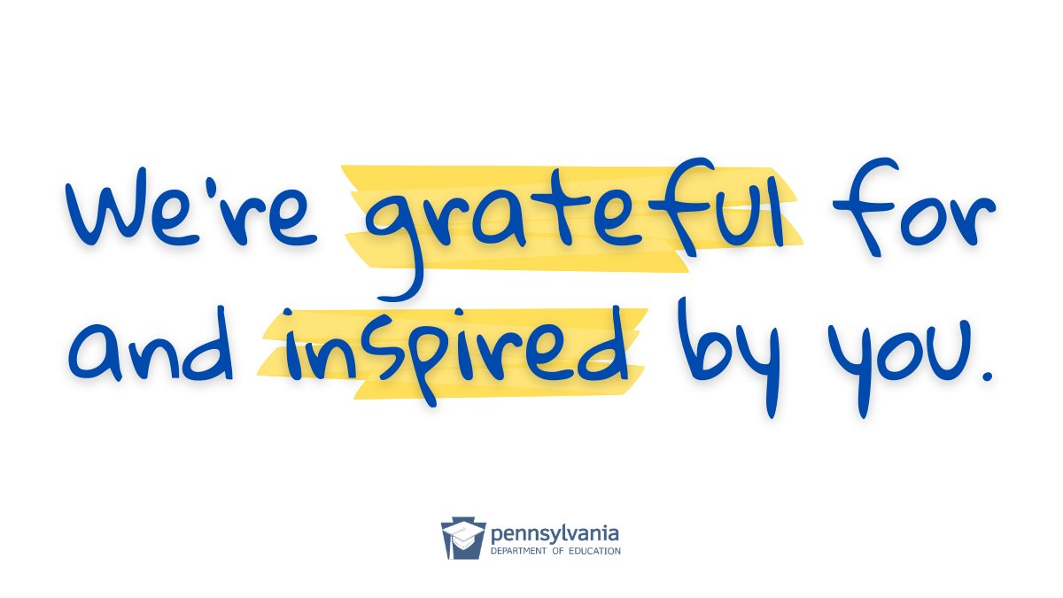 To educators everywhere:  Thank you for your courage + innovation + dedication to helping children reach their full potential. 💕  #ThankfulThursday #ThursdayThoughts