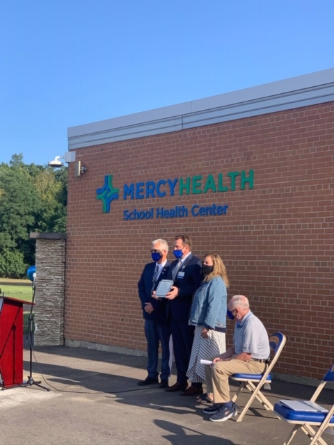 Clermont County officials were on hand last week when Mercy Health – Clermont Hospital celebrated the opening of a school-based health center at Clermont Northeastern High School. The center is open year-round on weekdays, 7:30 a.m.–4:30 p.m.