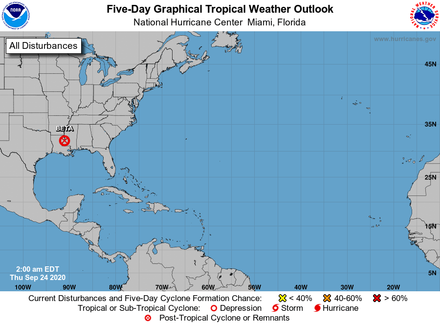 Good news, the tropics remain quiet this morning!  Formation not expected in the next 5 days. #stxwx