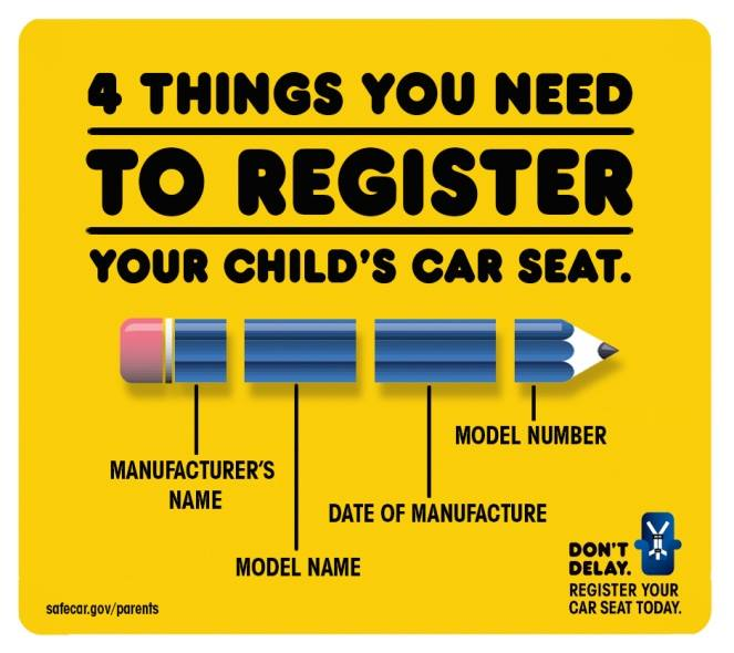 Please remember that after you purchase a child's car seat to fill out and return the warranty card right away. This is one way that you will be notified if there is an issue with the car seat. #childsafety #highwaysafetynetwork